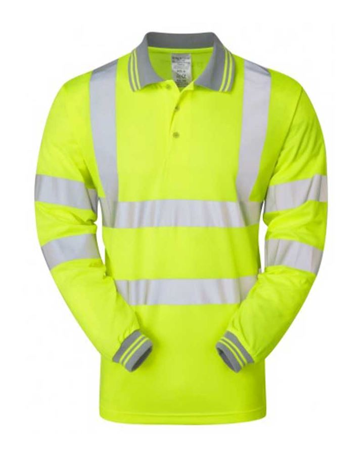 High Visibility Yellow Polo Shirt Long Sleeved