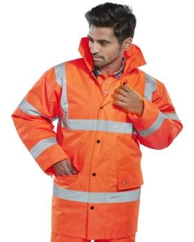 High Visibility Orange Anorak Class 3