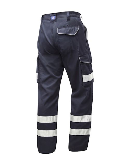 Ilfracombe Navy Reflective Cargo Trouser - Reg
