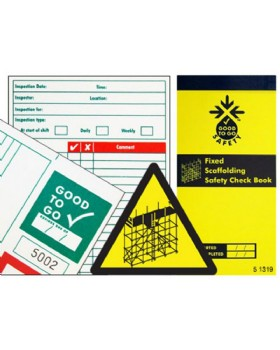 Scaffold Inspection Record Pad - Booklet