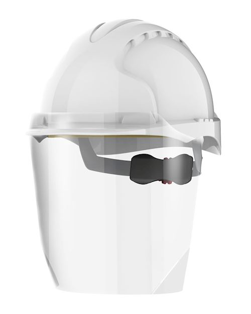 Helmet Mounted Cough Guard