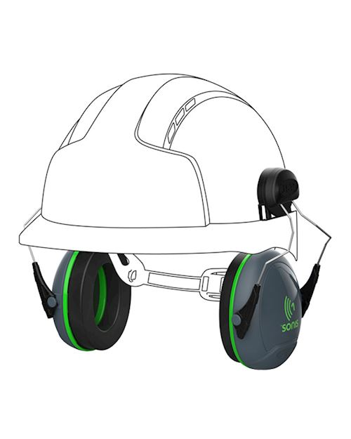 Sonis 1 Helmet Mounted Ear Defenders 26dB SNR