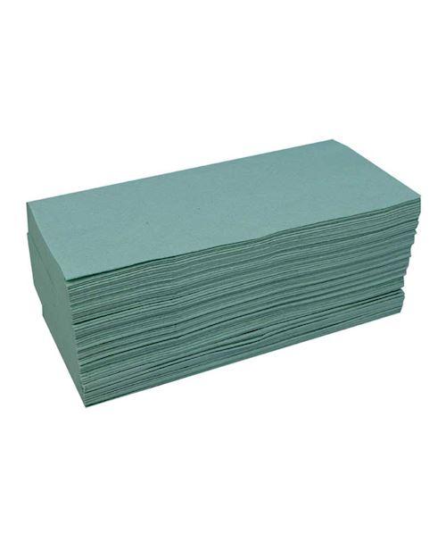 Katrin Zig-Zag V Fold Paper Hand Towels Green 100683