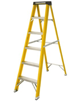 Glass Fibre Step Ladder For Painters & Electricians  6 Step