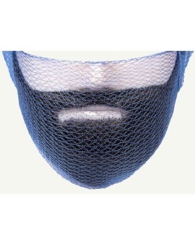 Beard Snood Blue Metal Detectable  (Pack 36)