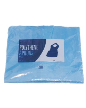 Polythene Disposable Apron Blue Pack 100
