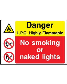 LPG Highly Inflammable Rigid Plastic