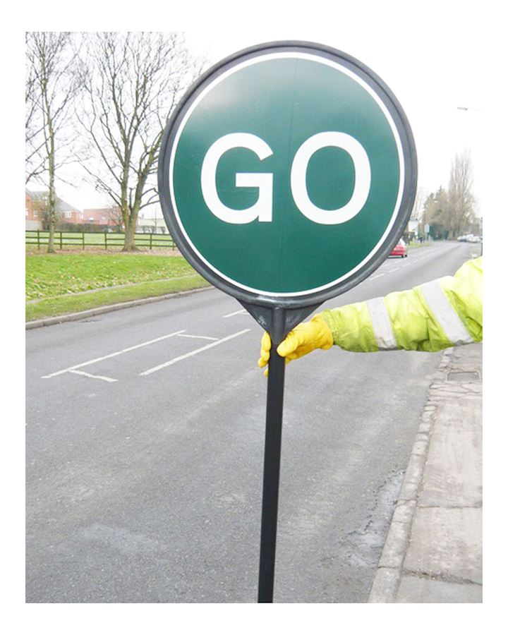 Lollipop Plastic Stop And Go Traffic Sign