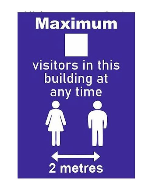 Maximum Visitors In The Building - A4 Sign