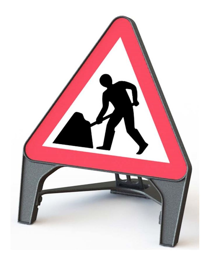 Men At Work - Road Works Q Sign