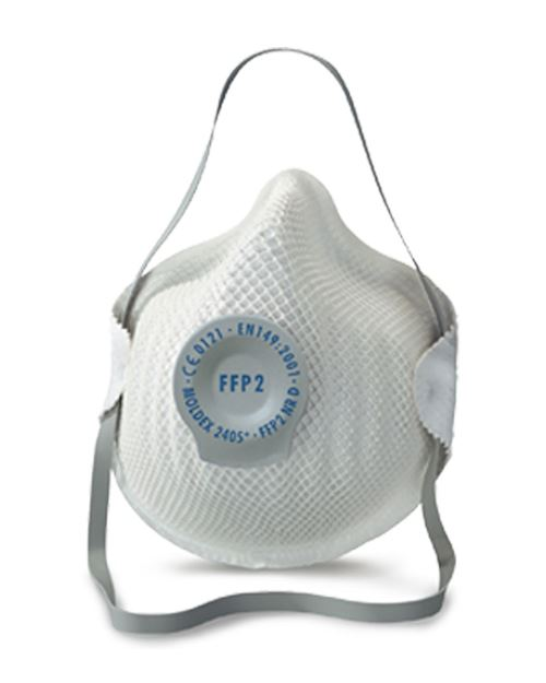 2405 FFP2 NR D Valved Disposable Dust Mask - Box of 20
