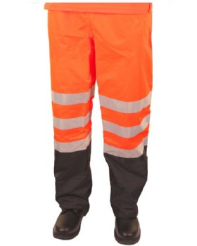 High Visibility Two Tone Orange/ Navy Traffic Belfry Trouser