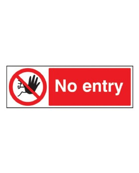 No  Entry Sign Rigid Plastic