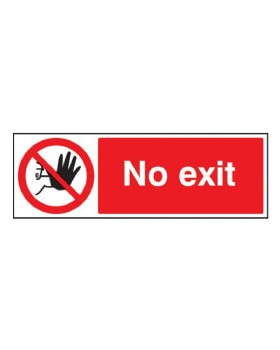 No Exit Sign Rigid Plastic