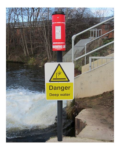 Danger Deep Water Sign - Aluminium composite