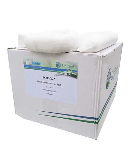 Oil & Fuel Absorbent Socks Box Of 20 By Fosse
