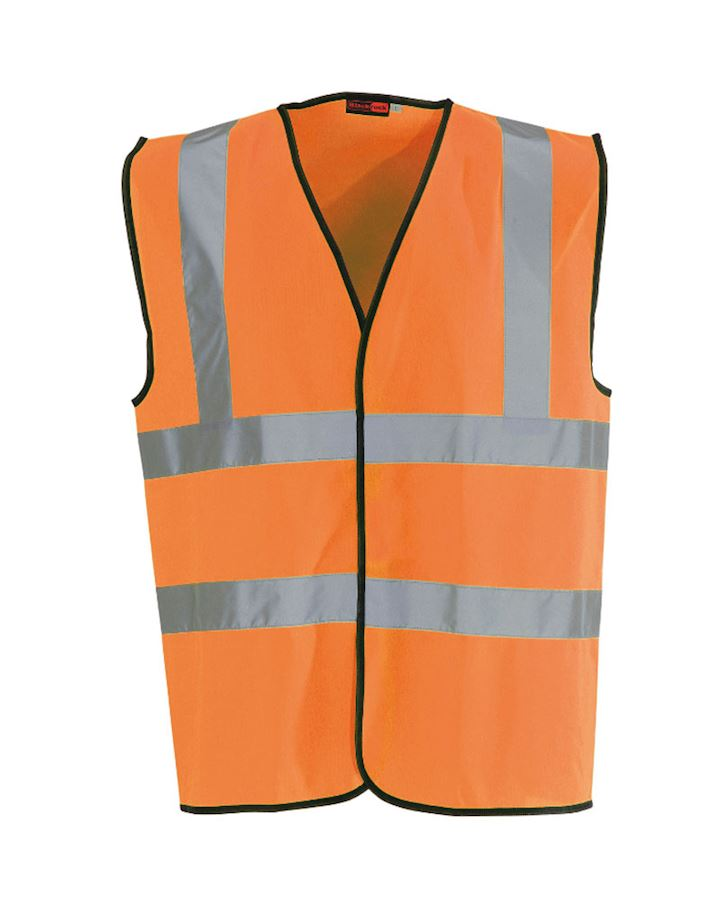 High Visibility Orange Waist Coat Class 2