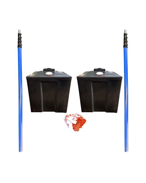 Rail Industry Overhead Cable Goal Posts - With Moulded Plastic Base