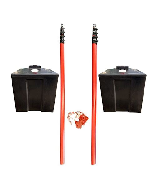 Overhead Cable Posts  With Plastic Base - Height Restrictor Warning