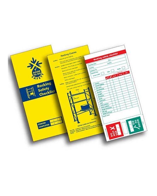 Racking Inspection Record Pad - Booklet