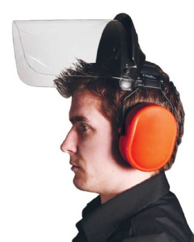 Polycarbonate Visor With Ear Defender - Strimming Set