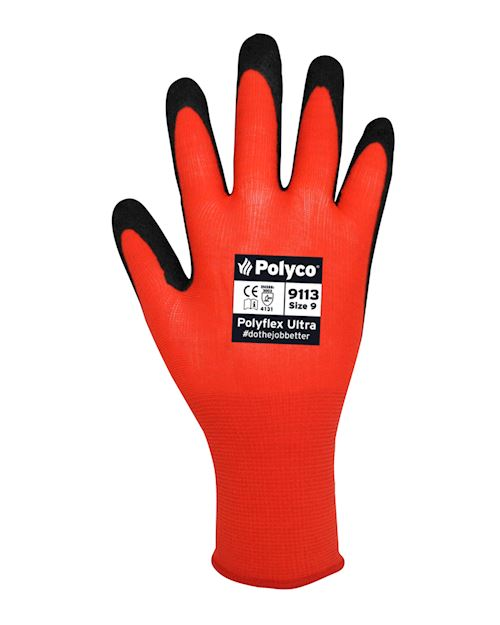 Polyflex Ultra Grip Glove - Foam Nitrile - PU Blend