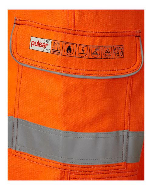 Flame Retardant Anti-Arc Hi - Vis Orange Combat Trouser