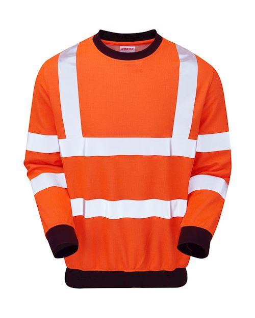 High-Vis Rail Spec AST-ARC Flame retardant Sweat Shirt