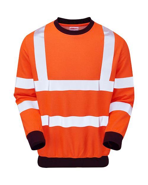 High-Vis Rail Spec AST-ARC Flame retardant Sweat Shirt