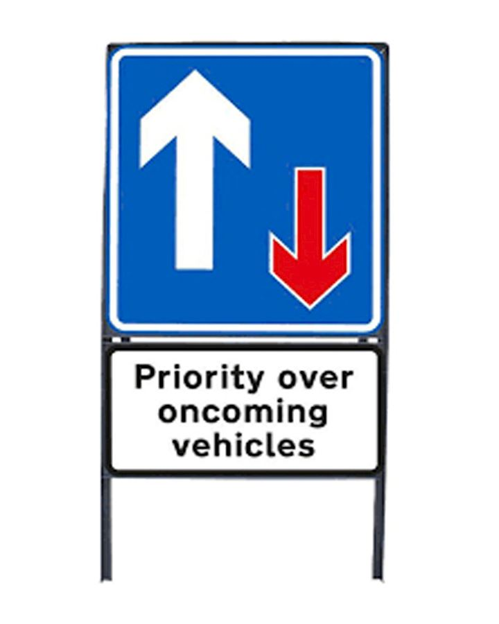 Priority Over Oncoming Vehicles Sign Chapter 8 Red Book