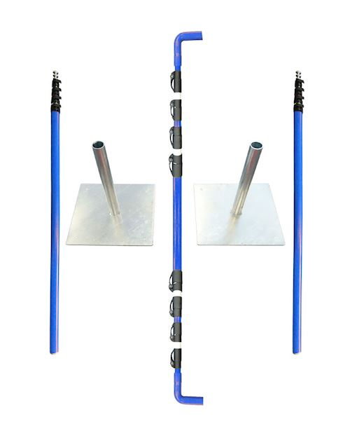 Rail Industry Overhead Cable Goal Posts - With Solid Metal Base