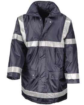 Quilted Managers Jacket With High Visibility Reflective