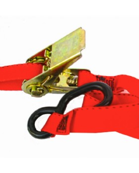 Ratchet Strap With  Coated  S-Hook 3 Metre