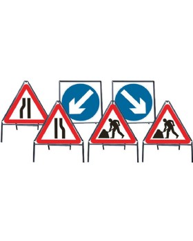 Roadworks Chapter 8  Red Book Traffic Sign Set - 600mm