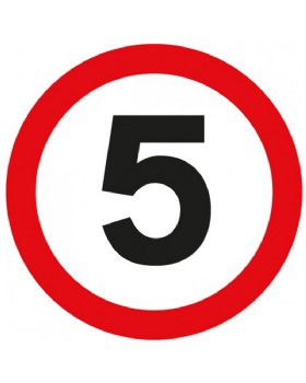 5 Mph Sign For Post Mounting