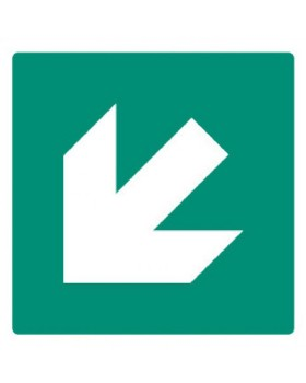Arrow Down Right Sign Self Adhesive Vinyl