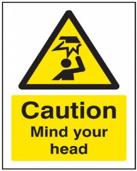 Mind Your Head Sign Rigid Plastic