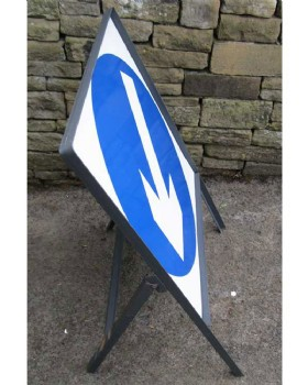 Road Direction Keep Left In Metal Frame