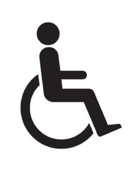 Disabled Toilet Sign On Rigid PVC