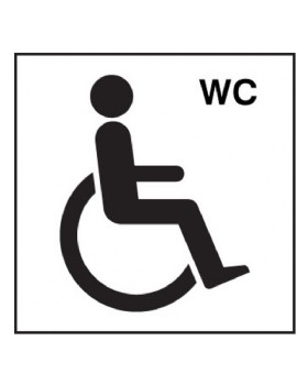 Disabled Toilet Sign On Self Adhesive Vinyl