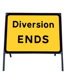 Diversion End Metal Sign In Frame Chapter 8 Red Book