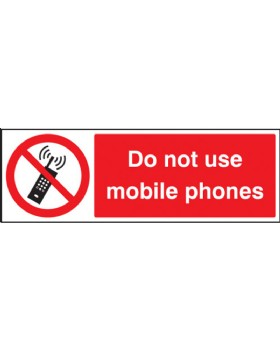 Do Not Use Mobile Phones On Rigid PVC