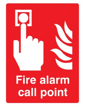 Fire Alarm Call Point Sign Self Adhesive Vinyl