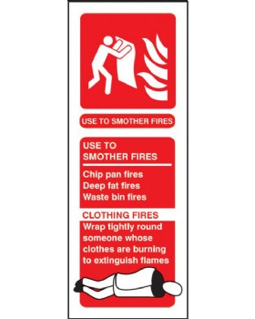Fire Blanket Sign. Instructions