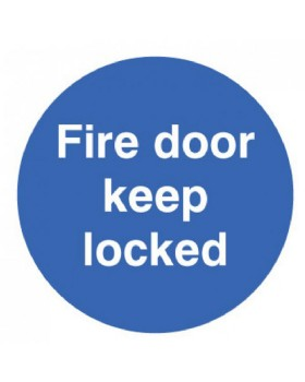 Fire Door Keep Locked Sign Self Adhesive Vinyl