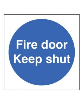 Fire Door Keep Shut Sign Self Adhesive Vinyl