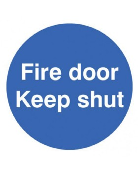 Fire Door Keep Shut Sign Self Adhesive Vinyl