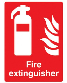 Fire Extinguisher Sign On Rigid PVC