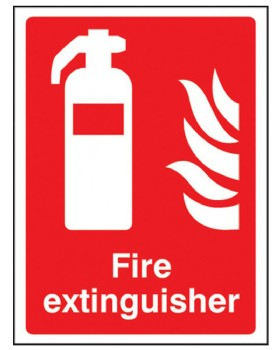 Fire Extinguisher Sign On Self Adhesive Vinyl