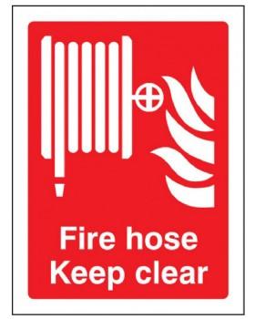 Fire Hose Reel Sign Rigid Plastic
